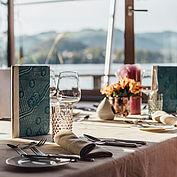 Frühstück mit Seeblick im Landhotel Das Traunsee