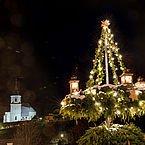 St. Kahtrein Winterlandschaft bei Nacht