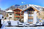 Hotelansicht Winter Landhotel Schütterbad