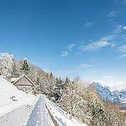 Winterlandschaft rund um das Landhotel Das Traunsee