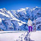 Skifahren in Gastein mit traumhaften Ausblick