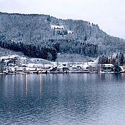 Abendliche Winterstimmung am Traunsee
