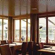 Ausblick Restaurant Bootshaus zum Traunsee