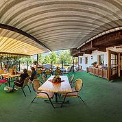 Gastgarten im Landhotel Wiedersbergerhorn