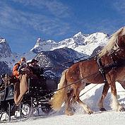 Pferdeschlitten, Landschaft im Winter, (c) TVB Pyhrn-Priel, Weymayer