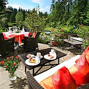 Gastgarten im Landhotel Schütterbad