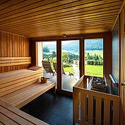 Sauna im LANDHOTEL Stockerwirt