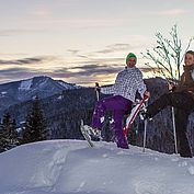 Gipfelstuermer mit den Schneeschuhen
