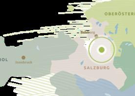 Regionskarte Tennengau