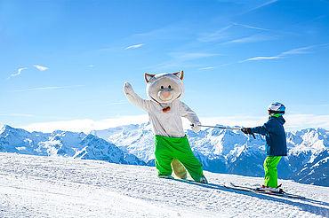 Skifahren mit Kinder in der Winkkogel Arena, © Wildkogel-Arena Neukirchen & Bramberg