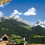 Landhotel Dolomitenhof Terrasse