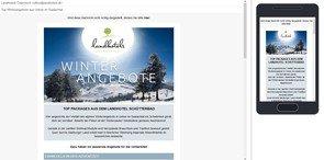 """Sondernewsletter 11/2016 """"Winterangebote im Saalachtal""""  -  © Landhotels Österreich"""