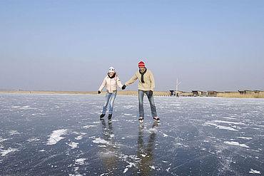 Eislaufen am Neusiedlersee, (c) NTG/steve.haider.com