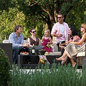 Der Garten im Landhotel Birkenhof