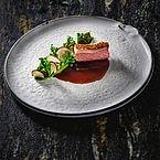 Rutzenmoser Bio Lamm Wilder Brokkoli, heimische Feigen und Steinpilze im Restaurant Bootshaus