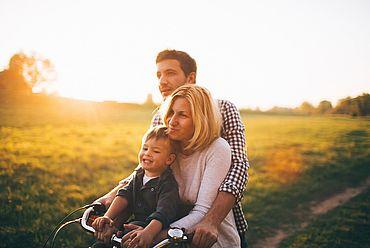 Radfahren mit der Familie in Österreich