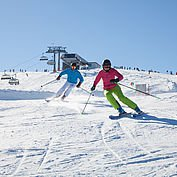 Skifahren mit besten Pistenverhältnissen