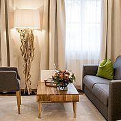 Sitzlounge im Doppelzimmer Superior im Landhotel Eichingerbauer