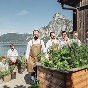 Haubenkoch Lukas Nagl und das Bootshaus-Team