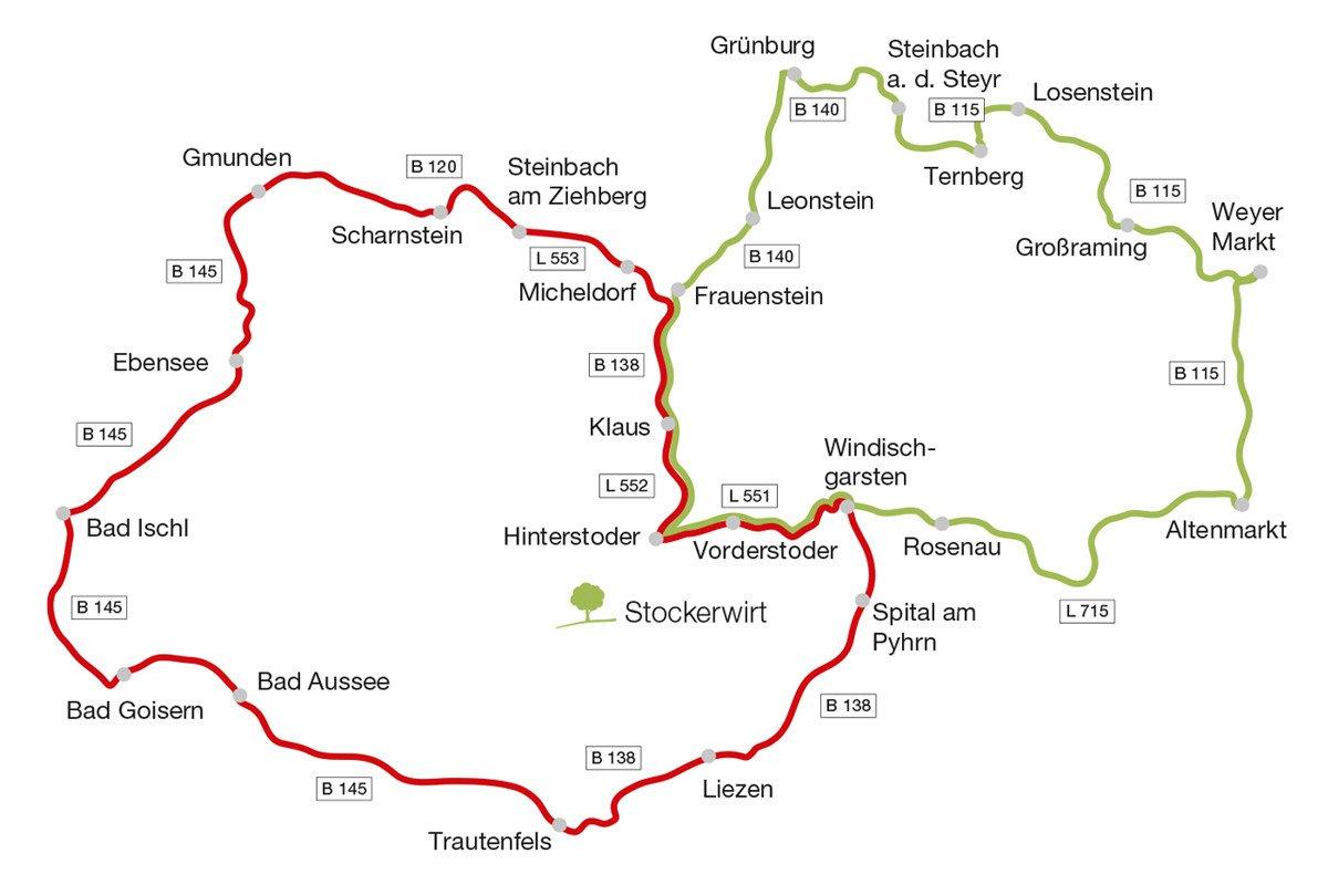 Die schönsten Motorrad-Touren in der Region Pyrhn-Priel