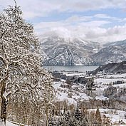 Winterlandschaft am Traunsee