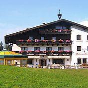 Landhotel Dolomitenhof Hotelansicht Sommer