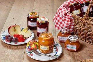 Hausgemachte Marmeladen im Bauernladen des Landhotel Hauserbauer