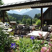 Gastgarten im Landhotel Gressenbauer
