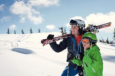 Skifahren, Winterspaß für die ganze Familie © Salzburger Saalachtal -