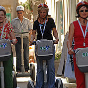 mit dem Cityroller unterwegs © Landhotel Mader