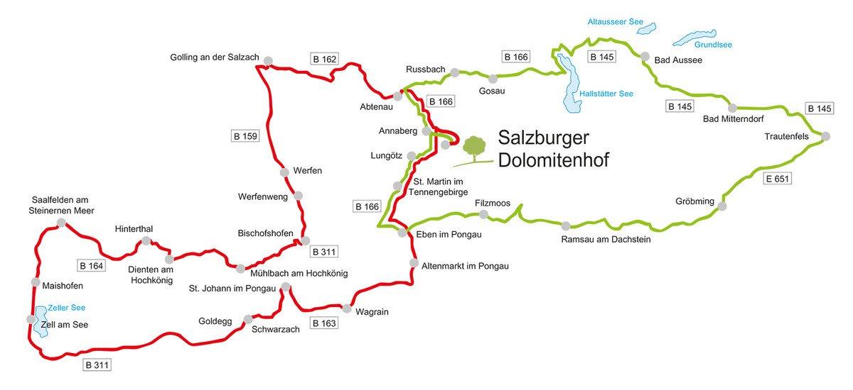 Die schönsten Motorrad-Touren im Tennengau und Salzkammergut