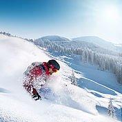 Tiefschneeabfahrt © Ski amadé