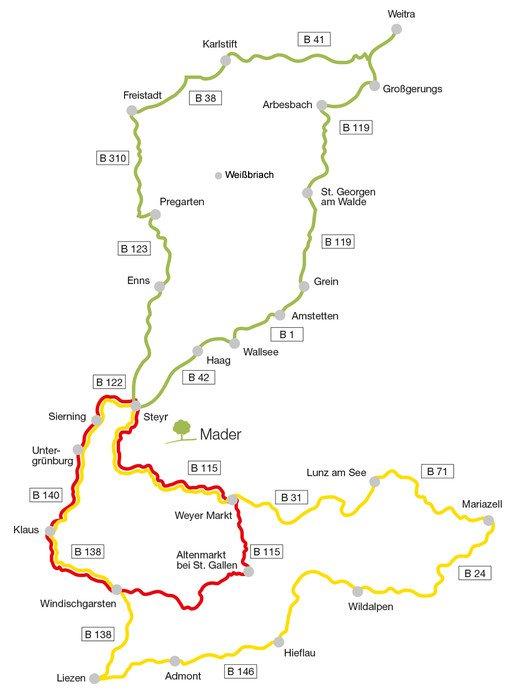 Die schönsten Motorrad-Touren in Oberösterreich