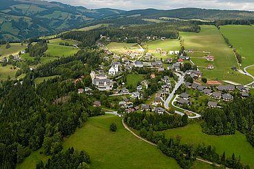Luftaufnahme © Tourismusverband Naturpark Almenland