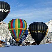 Ballonfahren im Winter © TVB Filzmoos
