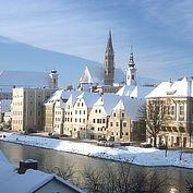 Die Stadt Steyr am Ennsufer