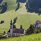 Landhotel Tirolerhof die Umgebung im Sommer
