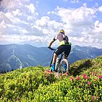 Mountainbiken mit Panoramablick