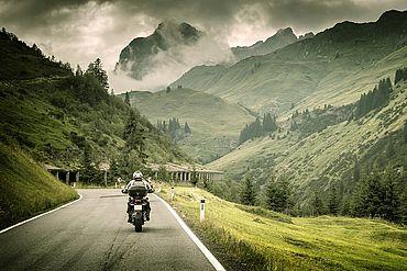 Motorradtour durch die Alpen in Salzburg