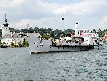 Raddampfer Gisela am Traunsee