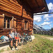 Hütteneinkehr mit dem Bike