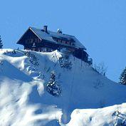 © Landhotel Agathawirt - Blick vom Balkon zur Goisererhütte