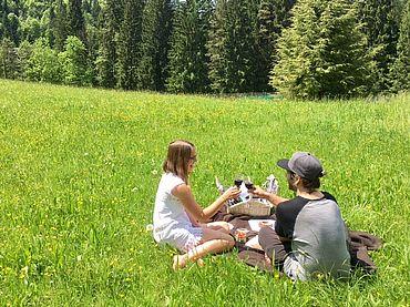 Picknick entlang der Saalach
