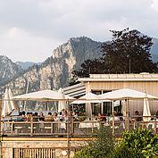 Terrasse Restaurant Bootshaus - © Landhotel Das Traunsee