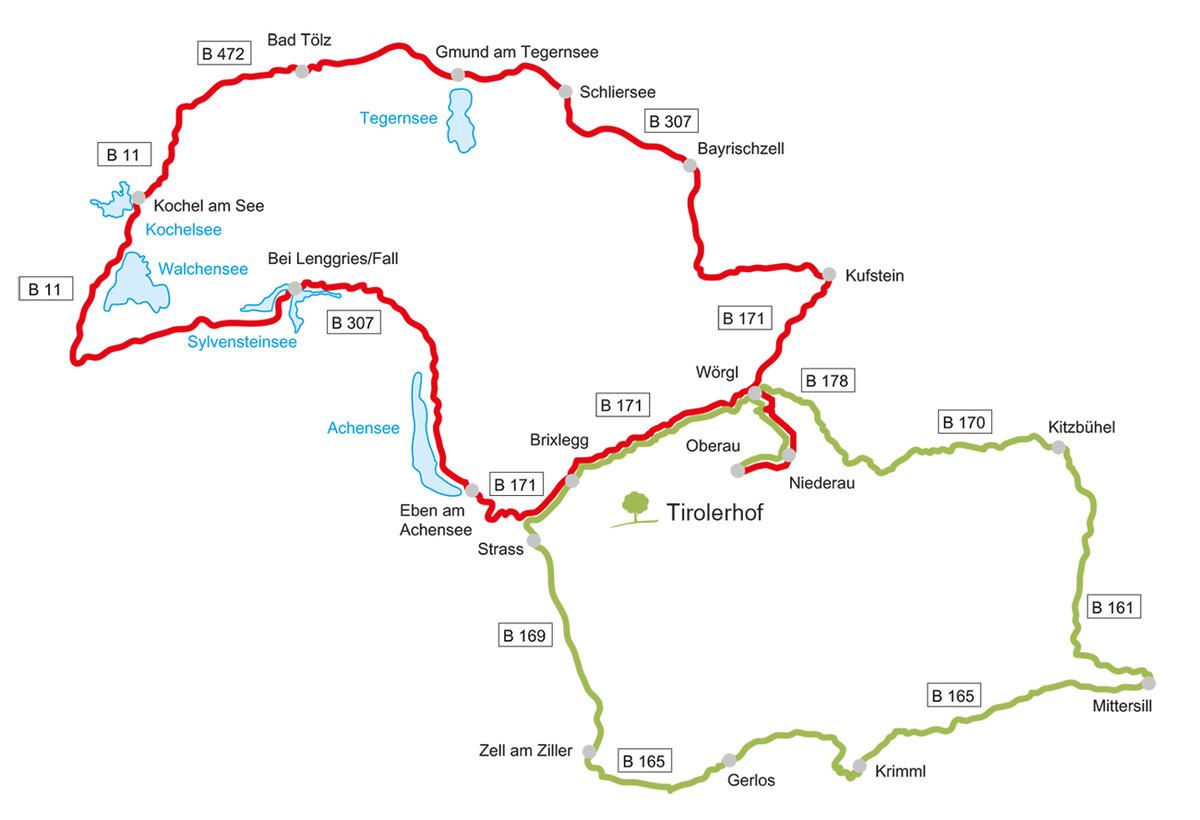 Die schönsten Motorrad Touren von Tirol bis Oberbayern