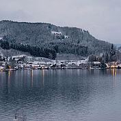 LANDHOTEL Das Traunsee abendliche Winterstimmung - copyrights www.traunseehotels.at