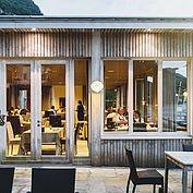 Terrasse zum Restaurant Bootshaus