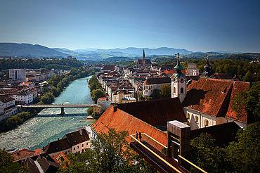 Steyrer Altstadt, Bilck ins Ennstal, (c) www.iconic-turn.com