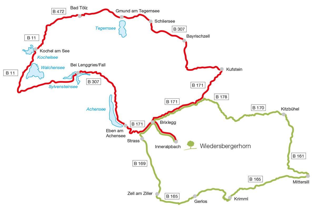 Die schönsten Motorrad-Touren von Tirol bis Oberbayern