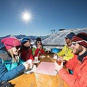 Auf der Skihütte im Ski Juwel Alpbachtal Wildschönau